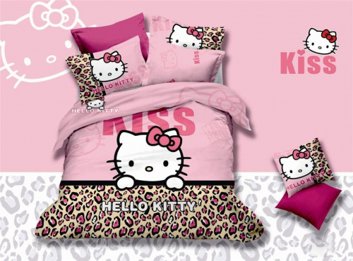 фото КПБ Hello Kitty bb03-18 Евро Hello Kitty артикул BB03-18 код1103 в интернет магазине salonsnov.ru