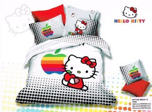 фото КПБ Hello Kitty bb03-16 Евро Hello Kitty артикул BB03-16 код1103 в интернет магазине salonsnov.ru